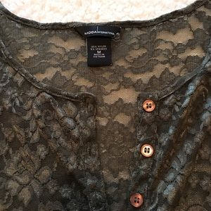 Victoria's Secret Tops - Victoria's Secret Moda International Lace Blouse